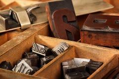Vara de composição no caso de letra Fotos de Stock
