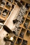 Vara de composição do Typesetter Fotografia de Stock Royalty Free