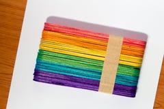 vara de madeira colorida do gelado Foto de Stock Royalty Free