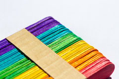 vara de madeira colorida do gelado Imagem de Stock Royalty Free