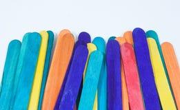 Vara de madeira muitas cores fotos de stock royalty free