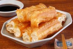 Vara de pão fritado chinesa fotografia de stock
