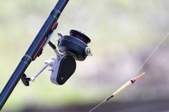 Vara de pesca fotografia de stock