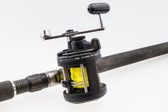 Vara de pesca com girar-roda fotografia de stock royalty free