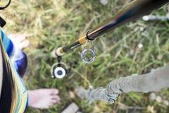 Vara de pesca do close-up Imagem de Stock Royalty Free