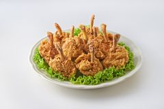 Vara do cilindro da galinha fritada Imagens de Stock Royalty Free