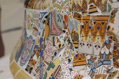 Vara do ¼ do gà do parque do mosaico em Barcelona Imagem de Stock