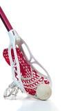 Vara do Lacrosse com esfera fotografia de stock royalty free