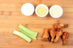 Vara do salário da asa de frango frita da galinha Imagem de Stock Royalty Free