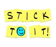 Vara a ela - palavras em notas pegajosas amarelas Imagens de Stock Royalty Free