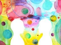 Vara hjärnan bakom chakramakt, abstrakt tanke för inspiration tillsammans, universum inom din mening royaltyfri illustrationer