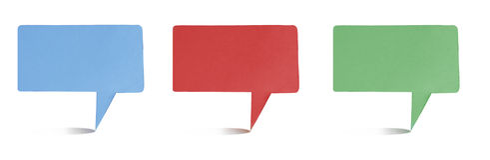Vara recicl Tag do ofício de papel do origami do encabeçamento Fotografia de Stock