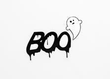 Vara spökskrivare klotter- och ordbu på vit bakgrund Royaltyfri Foto
