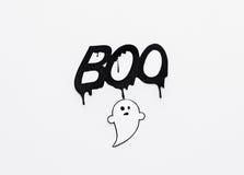 Vara spökskrivare klotter- och ordbu på vit bakgrund Arkivbilder