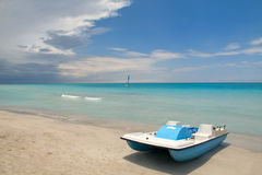 Varadero Beach. The view of the tropical beach. Varadero Cuba Royalty Free Stock Photography