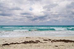 Varadero beach in bad weather-Cuba Stock Photography