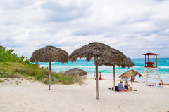 Varadero beach in bad weather-Cuba Stock Photo