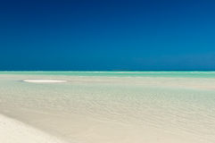 Varadero beach. Crystal clear Caribbean sea Varadero Cuba Royalty Free Stock Photos