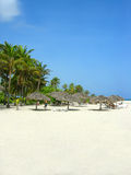 Varadero beach Cuba. Cubans relaxing in the warm weather at a resort of Varadero beach, Cuba Stock Photo