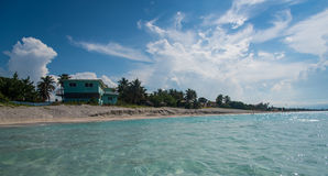 Varadero beach Cuba. Cubans relaxing in the warm weather at Varadero beach, Cuba Royalty Free Stock Photos