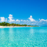 Varadero beach in Cuba photographed from the sea Stock Images
