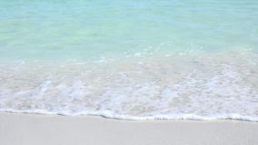 Varadero Beach in Matanzas, Cuba. Varadero beach in Cuba featuring clear blue water and white sand, the beach is a tourist landmark, destination or attraction stock footage
