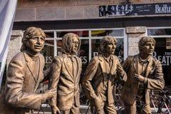 Bronze Beatles Statues Stock Images