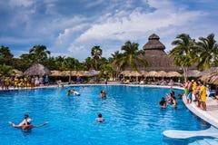 Resort Pool Game Royalty Free Stock Photos