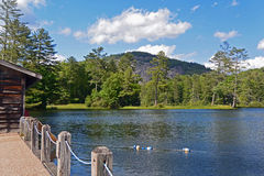 Varadero en el lago de la montaña, cajeros, Carolina del Norte Imágenes de archivo libres de regalías