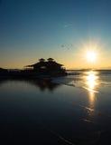 Varadero en la puesta del sol Imagenes de archivo