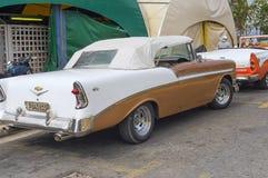 VARADERO KUBA, STYCZEŃ, - 05, 2018: Retro klasyczny Amerykański samochód Obrazy Stock