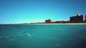 Varadero resort Cuba. Overview of the Atlantic Ocean on the coast of Varadero resort stock footage