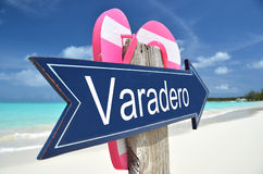 Varadero sign. On the beach Royalty Free Stock Images