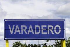 Varadero sign Royalty Free Stock Image