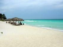 Varadero strand Cuba stock foto's