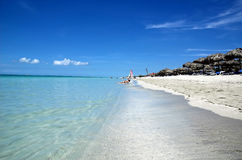 Varadero stranden, Cuba Royalty-vrije Stock Afbeeldingen