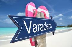 Varadero-Zeichen lizenzfreie stockbilder