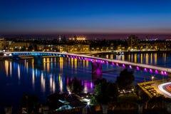 Varadin桥梁 库存照片
