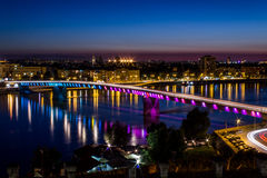 Varadin-Brücke stockfotos