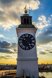 Varadin fortress clock Royalty Free Stock Images