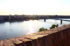 Varadin-Regenbogenbrücke stockfotografie
