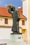 Varaždin. Sculpture croatian bishop Gregorius of Nin Stock Photography