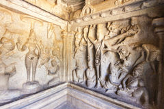 Varaha jama w Mamallapuram w tamil nadu, India - Unesco światowego dziedzictwa miejsce - (Mahabalipuram) Zdjęcia Royalty Free