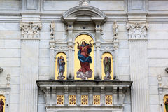 Varallo,意大利神圣的山  免版税库存照片