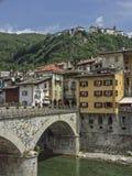 Varallo i den Sesia dalen arkivfoton