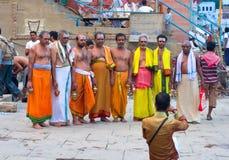 Varanas I Indien Arkivbild