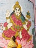 Varanasi, Ουτάρ Πραντές, Ινδία - 1 Νοεμβρίου 2009 να χρωματίσει της θεάς Parvati σε ένα κτήριο σε Rajendra Prasad Ghat Στοκ φωτογραφία με δικαίωμα ελεύθερης χρήσης