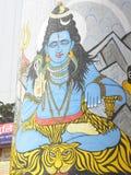 Varanasi, Ουτάρ Πραντές, Ινδία - 1 Νοεμβρίου 2009 να χρωματίσει του Λόρδου Shiva σε ένα κτήριο σε Rajendra Prasad Ghat Στοκ Εικόνα