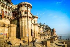 Varanasi Assi Ghat Immagine Stock Libera da Diritti