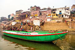 Varanasi (Benares). View of Varanasi from the gange river Stock Photography